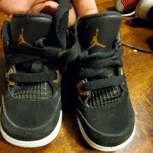 Boys jordan sneakers Black Suede 7C toddler baby